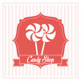 Conception de sucrerie Graphisme doux concept de dessert, illustration de vecteur Photos libres de droits