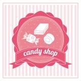 Conception de sucrerie Graphisme doux concept de dessert, illustration de vecteur Photographie stock libre de droits
