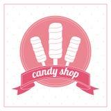 Conception de sucrerie Graphisme doux concept de dessert, illustration de vecteur Photographie stock