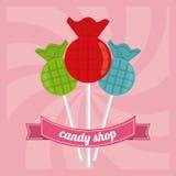 Conception de sucrerie Graphisme doux concept de dessert, illustration de vecteur Image stock