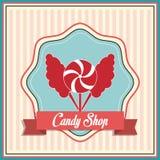 Conception de sucrerie Graphisme doux concept de dessert, illustration de vecteur Photo libre de droits
