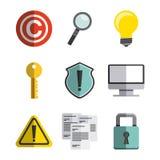 conception de symbole de copyright Photos stock