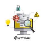 conception de symbole de copyright Images stock