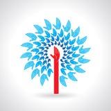 Conception de symbole de travail d'équipe avec beaucoup de mains Image libre de droits