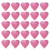 Conception de symbole de forme de coeur Modèle coloré de coeurs pour le papier, textile, carte Fond sans couture de jour de valen illustration libre de droits