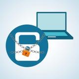 Conception de système de sécurité, avertissement et concept de technologie Photo stock