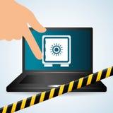 Conception de système de sécurité, avertissement et concept de technologie Photographie stock