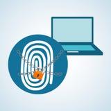 Conception de système de sécurité, avertissement et concept de technologie Photographie stock libre de droits