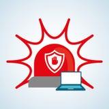 Conception de système de sécurité, avertissement et concept de technologie Images stock