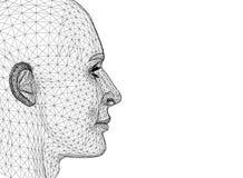 Conception de tête humaine - architecte Blueprint illustration stock