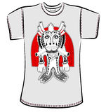 Conception de T-shirt avec le monstre d'imagination Photo stock