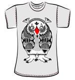 Conception de T-shirt avec le monstre d'imagination Photos stock
