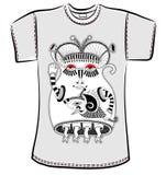 Conception de T-shirt avec le monstre d'imagination Image libre de droits