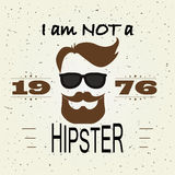 Conception de T-shirt de hippie, rétro style, typographie Photo stock