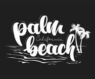 Conception de T-shirt de la Californie de Palm Beach Photo libre de droits