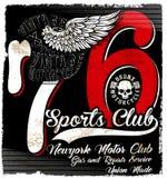 Conception de T-shirt de Logo Emblem de moto de vintage Images stock