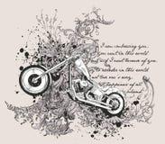 Conception de T-shirt de moto Photo libre de droits