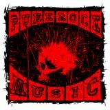 Conception de T-shirt de punk rock illustration de vecteur