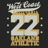 Conception de T-shirt de sport de la Californie Photo stock