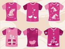 Conception de T-shirts de jour du `s de Valentine Image libre de droits