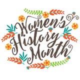 Conception de tableau noir de mois de l'histoire des femmes illustration de vecteur