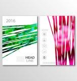 Conception de taille du calibre A4 d'insecte de brochure, couverture de conception de livre illustration libre de droits