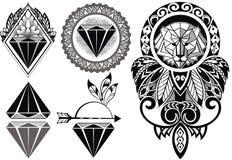 Conception de tatouage avec le lion illustration libre de droits