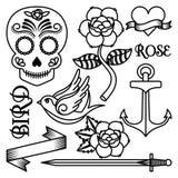 conception de tatouage de roses illustration de vecteur