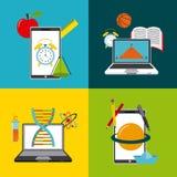 conception de technologie et d'éducation Photo stock