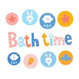 Conception de temps de Bath Image stock