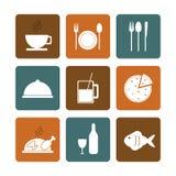 Conception de temps de déjeuner Icône de menu Illustration plate, vecteur editable illustration de vecteur