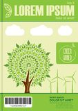 Conception de thème d'écologie pour le rapport annuel, l'insecte, la brochure ou le tract Endroit vide pour votre texte illustration stock