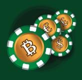 Conception de thème de BitCoin illustration stock