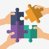 Conception de travail d'équipe et de puzzle Images stock