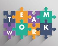 Conception de travail d'équipe et de puzzle Images libres de droits