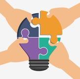 Conception de travail d'équipe et de puzzle Photographie stock