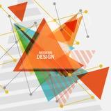 Conception de triangle de vecteur Composition abstraite en vecteur pour imprimer des livres, brochures, tracts illustration libre de droits