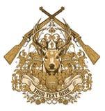 Conception de trophée de chasseurs   Image libre de droits