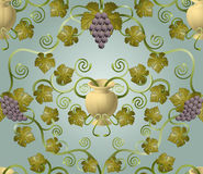 Conception de tuile de raisin Photo libre de droits
