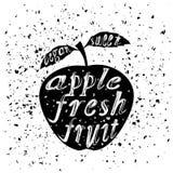 Conception de typographie d'icône d'Apple avec le lettrage Photo stock
