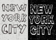 Conception de typographie de New York de vintage pour le T-shirt, affiche, vecteur Illustration Libre de Droits