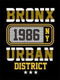 Conception de typographie de New York, image de vecteur Image libre de droits