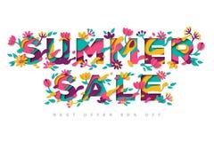 Conception de typographie de vente d'été Image stock
