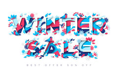 Conception de typographie de vente d'hiver Images stock