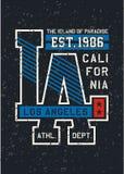Conception de typographie de la Californie de LA Photographie stock libre de droits