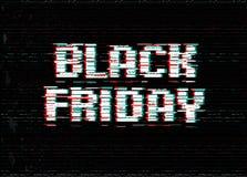 Conception de typographie de promo de Black Friday Bannière de boutique avec le texte d'effet de problème Illustration de vecteur Illustration de Vecteur