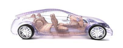 Conception de véhicule, modèle de fil illustration de vecteur