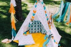 Conception de vacances pour les vacances des enfants dans le style de boho Images stock