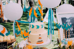 Conception de vacances pour les vacances des enfants dans le style de boho Photo stock