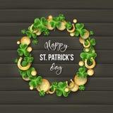 Conception de vacances de salutation de jour de St Patricks illustration de vecteur